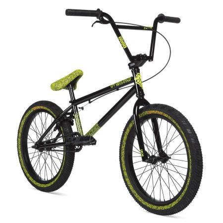 STOLEN OVERLORD 2020 20.25 black with reflective yellow BMX bike
