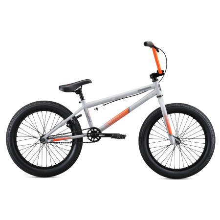 Mongoose L20 2020 20 grey with orange BMX bike