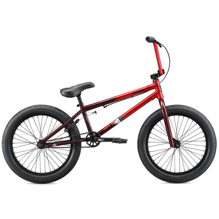 Mongoose L80 2020 21 red with brown BMX bike