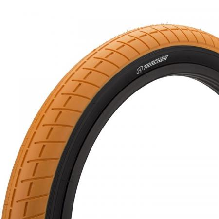 Mission Tracker 2.4 orange with back wall BMX tire
